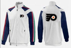 Wholesale Cheap NHL Philadelphia Flyers Zip Jackets White-3