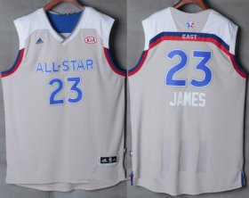 Wholesale Cheap Men\'s Eastern Conference Cleveland Cavaliers #23 LeBron James adidas Gray 2017 NBA All-Star Game Swingman Jersey