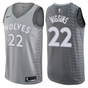 Wholesale Cheap Nike Minnesota Timberwolves #22 Andrew Wiggins Gray NBA Swingman City Edition Jersey