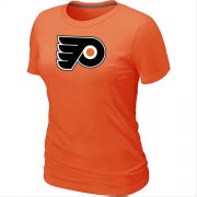 Wholesale Cheap Women's Philadelphia Flyers Big & Tall Logo Orange NHL T-Shirt