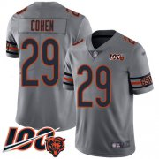 Wholesale Cheap Nike Bears #29 Tarik Cohen Silver Youth Stitched NFL Limited Inverted Legend 100th Season Jersey