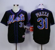 Wholesale Cheap Mets #31 Mike Piazza Black Cool Base Stitched MLB Jersey