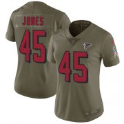 Wholesale Cheap Nike Falcons #45 Deion Jones Olive Women's Stitched NFL Limited 2017 Salute to Service Jersey