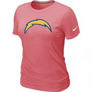 Wholesale Cheap Women's Nike Los Angeles Chargers Pink Logo T-Shirt