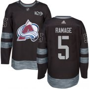 Wholesale Cheap Adidas Avalanche #5 Rob Ramage Black 1917-2017 100th Anniversary Stitched NHL Jersey