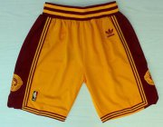 Wholesale Cheap Men's Cleveland Cavaliers Yellow Throwback Short