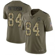 Wholesale Cheap Nike Bears #84 Cordarrelle Patterson Olive/Camo Men's Stitched NFL Limited 2017 Salute To Service Jersey