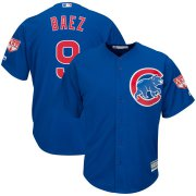 Wholesale Cheap Cubs #9 Javier Baez Blue 2019 Spring Training Cool Base Stitched MLB Jersey