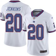 Wholesale Cheap Nike Giants #20 Janoris Jenkins White Youth Stitched NFL Limited Rush Jersey