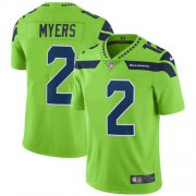 Wholesale Cheap Nike Seahawks #2 Jason Myers Green Men's Stitched NFL Limited Rush Jersey