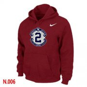 Wholesale Cheap Nike New York Yankees #2 Derek Jeter Official Final Season Commemorative Logo Pullover Hoodie Red