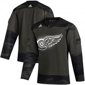 Wholesale Cheap Detroit Red Wings Adidas 2019 Veterans Day Authentic Practice NHL Jersey Camo