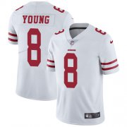Wholesale Cheap Nike 49ers #8 Steve Young White Youth Stitched NFL Vapor Untouchable Limited Jersey