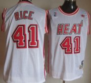 Wholesale Cheap Miami Heat #41 Glen Rice White Swingman Throwback Jersey