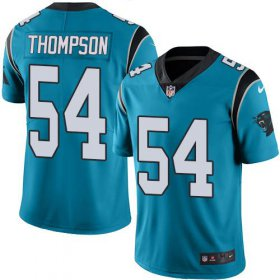 Wholesale Cheap Nike Panthers #54 Shaq Thompson Blue Men\'s Stitched NFL Limited Rush Jersey