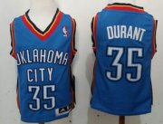 Cheap Oklahoma City Thunder #35 Kevin Durant Blue Toddlers Jersey