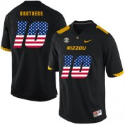 Wholesale Cheap Missouri Tigers 10 Kentrell Brothers Black USA Flag Nike College Football Jersey