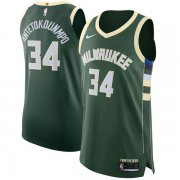 Wholesale Cheap Nike Bucks #34 Giannis Antetokounmpo Green NBA Authentic Icon Edition Jersey