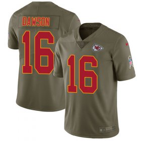 Wholesale Cheap Nike Chiefs #16 Len Dawson Olive Men\'s Stitched NFL Limited 2017 Salute to Service Jersey