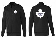 Wholesale NHL Toronto Maple Leafs Zip Jackets Black-1