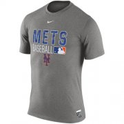 Wholesale Cheap New York Mets Nike 2016 AC Legend Team Issue 1.6 T-Shirt Gray