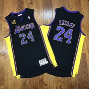Wholesale Cheap Men's Los Angeles Lakers #24 Kobe Bryant Black 2009 NBA Champions Patch Hardwood Classics Jersey