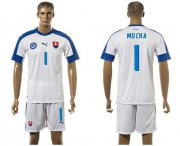 Wholesale Cheap Slovakia #1 Mucha Home Soccer Country Jersey