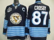 Wholesale Cheap Penguins #87 Sidney Crosby Stitched Dark Blue 2011 Winter Classic Vintage NHL Jersey