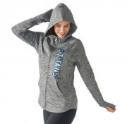 Wholesale Cheap Women's NFL Tennessee Titans G-III 4Her by Carl Banks Recovery Full-Zip Hoodie Heathered Gray