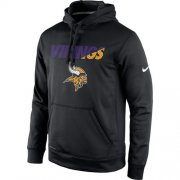 Wholesale Cheap Minnesota Vikings Nike Kick Off Staff Performance Pullover Hoodie Black