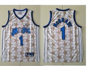 Wholesale Cheap Orlando Magic #1 Tracy McGrady White All-Star Hardwood Classics Soul Swingman Throwback Jersey