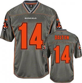 Wholesale Cheap Nike Bengals #14 Andy Dalton Grey Men\'s Stitched NFL Elite Vapor Jersey