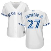 Wholesale Cheap Blue Jays #27 Vladimir Guerrero Jr. White Home Women's Stitched MLB Jersey