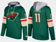 Wholesale Cheap Wild #11 Zach Parise Green Name And Number Hoodie