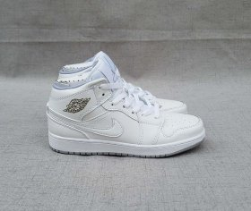Wholesale Cheap Women\'s Jordan 1 Mid Shoes White/Black
