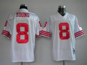 Wholesale Cheap Mitchell and Ness 49ers #8 Steve Young Stitched White NFL Jersey