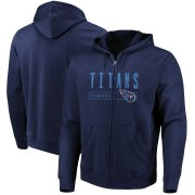 Wholesale Cheap Tennessee Titans Majestic Hyper Stack Full-Zip Hoodie Navy
