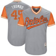 "Wholesale Cheap Orioles #45 Mark Trumbo Gray ""Trumbo"" Players Weekend Authentic Stitched MLB Jersey"