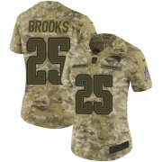 Wholesale Cheap Nike Patriots #25 Terrence Brooks Camo Women's Stitched NFL Limited 2018 Salute to Service Jersey