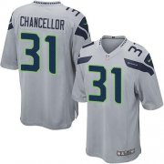Wholesale Nike Seahawks #31 Kam Chancellor Grey Alternate Youth Stitched NFL Elite Jersey