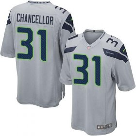 Wholesale Cheap Nike Seahawks #31 Kam Chancellor Grey Alternate Youth Stitched NFL Elite Jersey