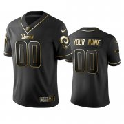 Wholesale Cheap Nike Rams Custom Black Golden Limited Edition Stitched NFL Jersey
