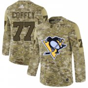 Wholesale Cheap Adidas Penguins #77 Paul Coffey Camo Authentic Stitched NHL Jersey
