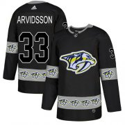 Wholesale Cheap Adidas Predators #33 Viktor Arvidsson Black Authentic Team Logo Fashion Stitched NHL Jersey
