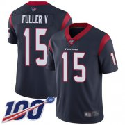 Wholesale Cheap Nike Texans #15 Will Fuller V Navy Blue Team Color Men's Stitched NFL 100th Season Vapor Limited Jersey