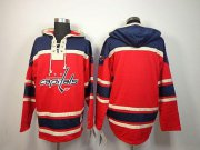 Wholesale Cheap Capitals Blank Red Sawyer Hooded Sweatshirt Stitched NHL Jersey