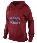 Wholesale Cheap Women's Carolina Panthers Heart & Soul Pullover Hoodie Red