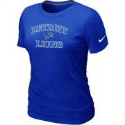 Wholesale Cheap Women's Nike Detroit Lions Heart & Soul NFL T-Shirt Blue
