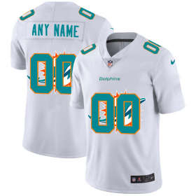 Wholesale Cheap Miami Dolphins Custom White Men\'s Nike Team Logo Dual Overlap Limited NFL Jersey