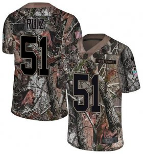 Wholesale Cheap Nike Saints #51 Cesar Ruiz Camo Youth Stitched NFL Limited Rush Realtree Jersey
